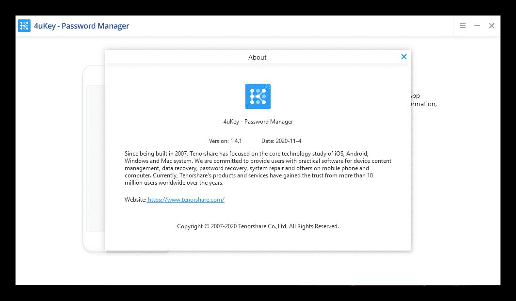 Tenorshare 4uKey Password Manager Serial Key