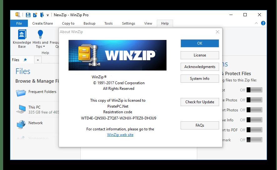 WinZip Crack Registration